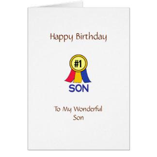 Hijo del feliz cumpleaños felicitación
