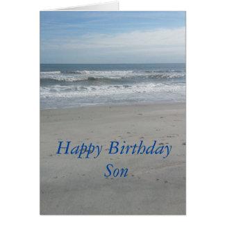 Hijo del feliz cumpleaños tarjetón