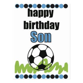 hijo del feliz cumpleaños tarjeta postal
