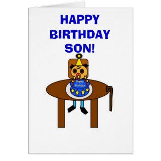 ¡Hijo del feliz cumpleaños Tarjetón