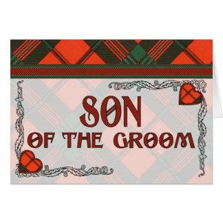 Hijo del novio - invitación - tartán de Scott Felicitacion