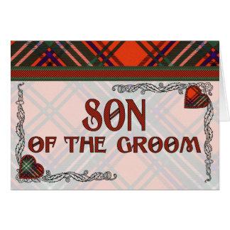 Hijo del novio - invitación - tartán de Seton Tarjeton