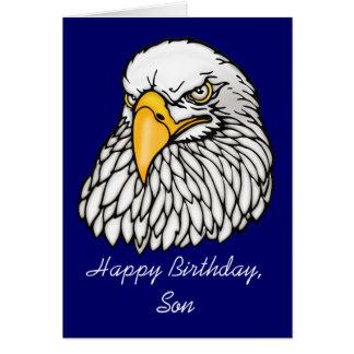 Hijo en el cumpleaños de las tropas tarjeta