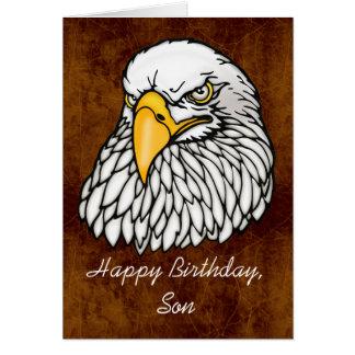 Hijo en el cumpleaños de las tropas tarjeta de felicitación
