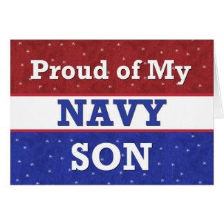 - HIJO en marina de guerra - pensamiento militar e Felicitación