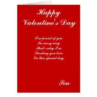 Hijo especial el el día de San Valentín Tarjeta De Felicitación