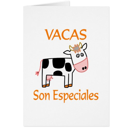 Hijo Especiales de Vacas Felicitacion