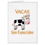 Hijo Especiales de Vacas Tarjeta De Felicitación