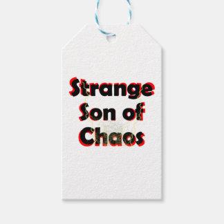 Hijo extraño del caos etiquetas para regalos