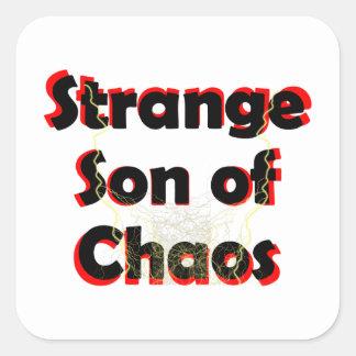 Hijo extraño del caos pegatina cuadrada