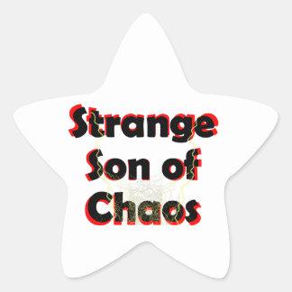 Hijo extraño del caos pegatina en forma de estrella