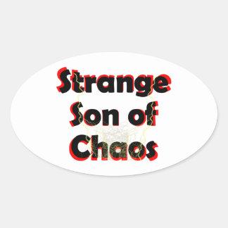 Hijo extraño del caos pegatina ovalada