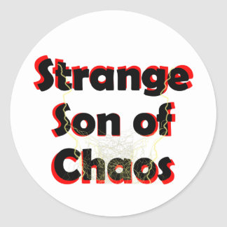 Hijo extraño del caos pegatina redonda