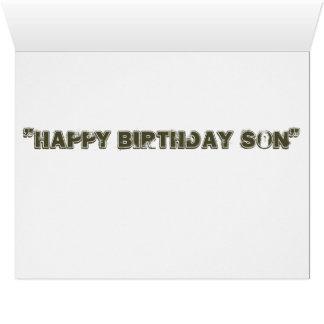 Hijo grande del feliz cumpleaños de la tarjeta