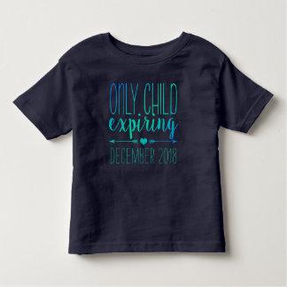 Hijo único que expira - marina de guerra y camiseta de bebé