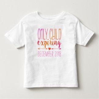 Hijo único que expira - rosa y naranja Ombre Camiseta De Bebé