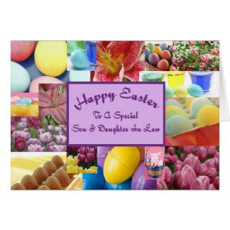 Hijo y nuera felices de Pascua Tarjeta De Felicitación