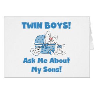 Hijos gemelos tarjeta de felicitación