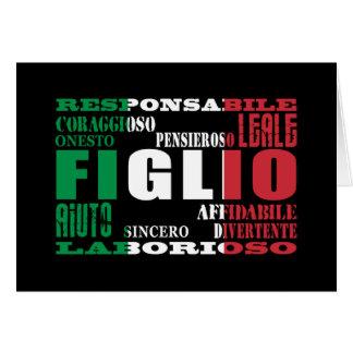 Hijos italianos: Calidades Tarjeta Pequeña