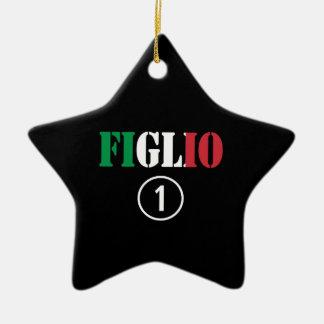 Hijos italianos: Uno de Figlio Numero Adorno De Cerámica En Forma De Estrella