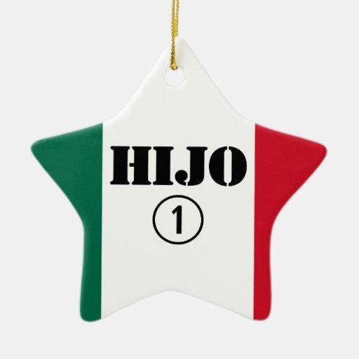 Hijos mexicanos: Uno de Hijo Numero Ornamentos De Navidad