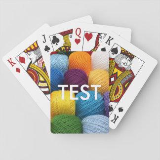 hilado de la prueba baraja de cartas