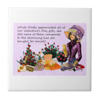 Hildy y su teja del collage de Digitaces del gorra