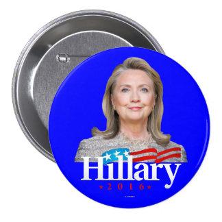 Hillary 2016 chapa redonda de 7 cm