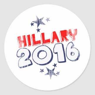 HILLARY 2016 Faded png Etiquetas