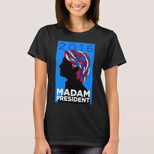 Hillary 2016: T-shirt de la señora presidente Camiseta