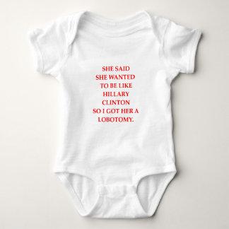 hillary anti Clinton Body Para Bebé