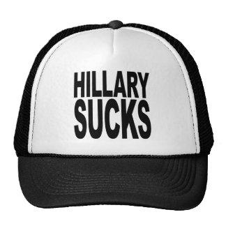 Hillary chupa gorros bordados