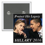 Hillary Clinton 2016 Chapa Cuadrada