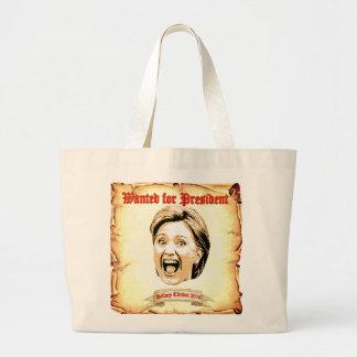 Hillary Clinton 2016 querida para la bolsa de asas
