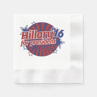 Hillary Clinton 2016 Servilleta Desechable