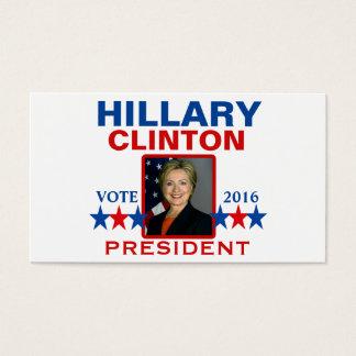 Hillary Clinton para el presidente 2016 Tarjeta De Visita