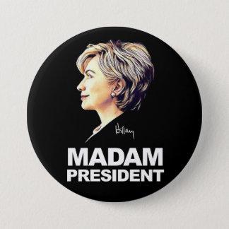 """Hillary Clinton """"señora presidente"""" botón"""