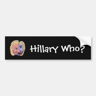 Hillary divertida que pegatina para el parachoques