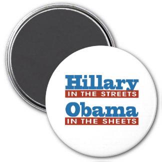 Hillary en las calles - Obama en las hojas -- EL Imán