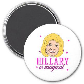 Hillary es mágica - rosa -- Elección 2016 - Imán