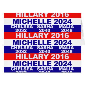Hillary, Michelle, Chelsea, Sasha, Malia Tarjeta De Felicitación Grande