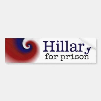 Hillary para la pegatina para el parachoques de la pegatina para coche