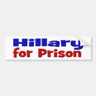 Hillary para la pegatina para el parachoques, el