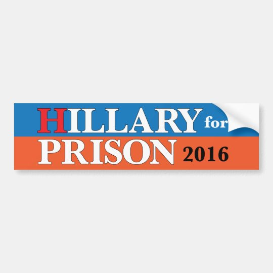"""Hillary para pegatina para el parachoques de la Pegatina Para Coche"