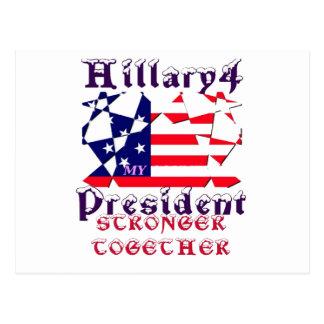 Hillary para presidente We de los E.E.U.U. es más Postal