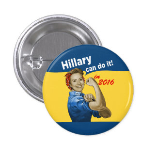 Hillary puede hacerlo 2016 chapa redonda de 2,5 cm