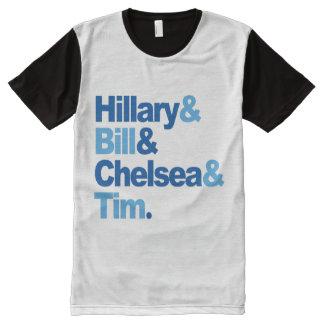 Hillary y Bill y Chelsea y Tim Camiseta Con Estampado Integral