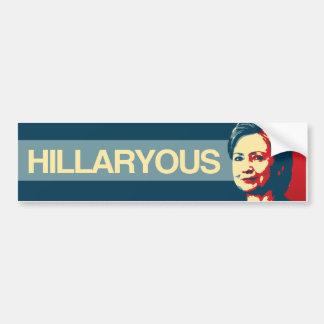 Hillaryous - propaganda de Anti-Hillary - - Pegatina Para Coche