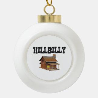 Hillbilly de la CAMISETA Adorno De Cerámica En Forma De Bola