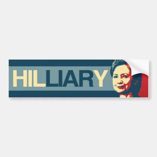 HILLIARY - Propaganda de Anti-Hillary - - Pegatina Para Coche